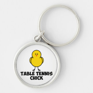 Table Tennis Chick Keychains
