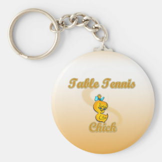 Table Tennis  Chick Key Chains