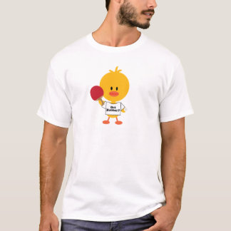 Table Tennis Chick Kids Crew Neck Tee