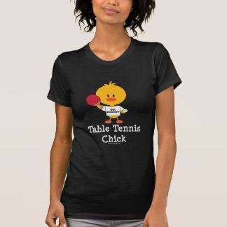 Table Tennis Chick Layered Tee