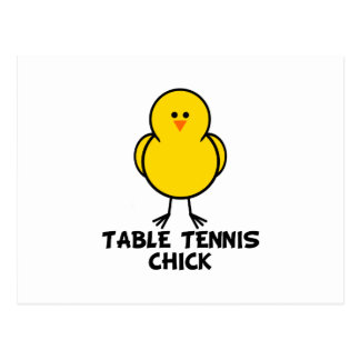 Table Tennis Chick Postcards