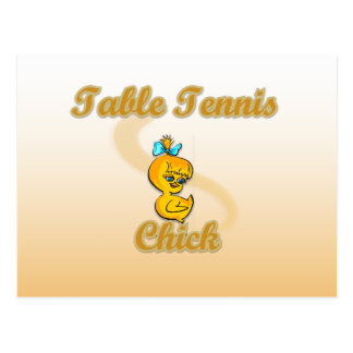 Table Tennis Chick Post Card