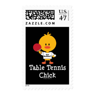 Table Tennis Chick Stamps