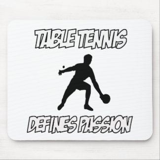 Table tennis designs mouse pad