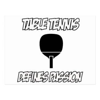 Table tennis designs postcard