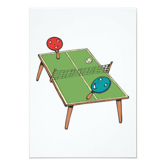 Table Tennis Personalized Invitations