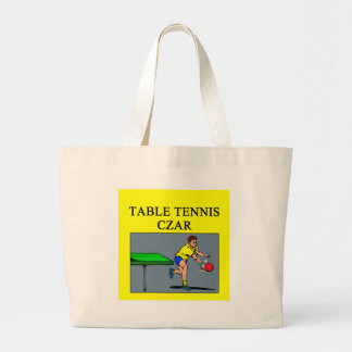 TABLE tennis joke Tote Bag