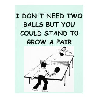 table tennis letterhead template