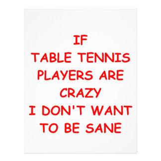 table tennis customized letterhead