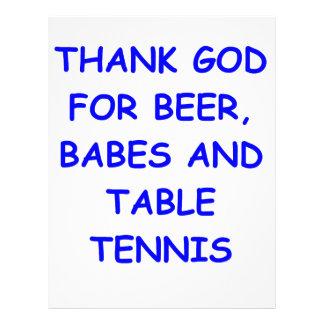 table tennis personalized letterhead