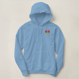 Table Tennis Logo Embroidered Hoodie
