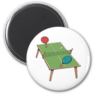 Table Tennis Refrigerator Magnets