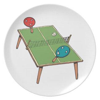 Table Tennis Melamine Plate