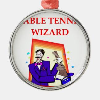 table tennis metal ornament