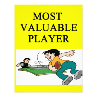 TABLE tennis most valuable player Flyer