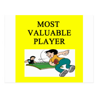 TABLE tennis most valuable player Postcard