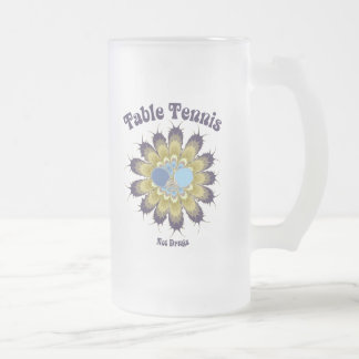Table Tennis Not Drugs Frosted Glass Beer Mug