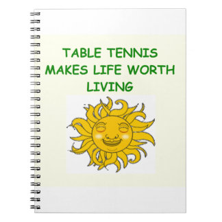 table tennis spiral notebooks