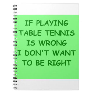 table tennis spiral note book