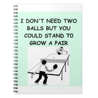 table tennis note books