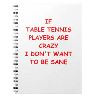 table tennis notebooks