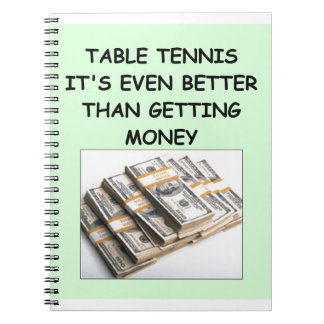 table tennis note book