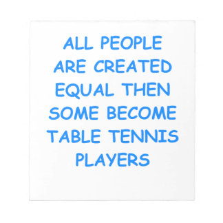 table tennis scratch pad