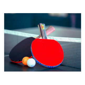 Table Tennis or Ping Pong Equipment Postcard