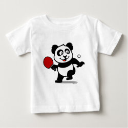 Baby Fine Jersey T-Shirt with Cute Table Tennis Panda design