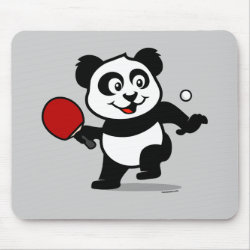 Mousepad with Cute Table Tennis Panda design