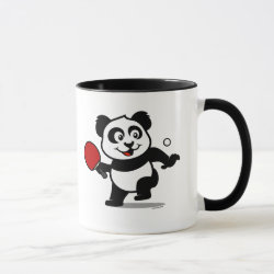Combo Mug with Cute Table Tennis Panda design