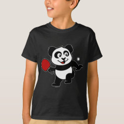 Cute Table Tennis Panda Kids' Hanes TAGLESS® T-Shirt