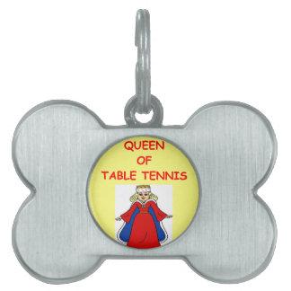 table tennis pet ID tag