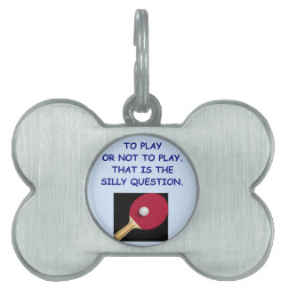 table tennis pet tags