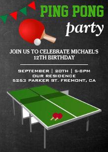 Ping Pong Invitations Zazzle