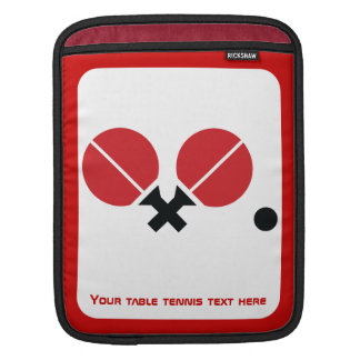 Table tennis ping-pong rackets and ball black, red sleeve for iPads
