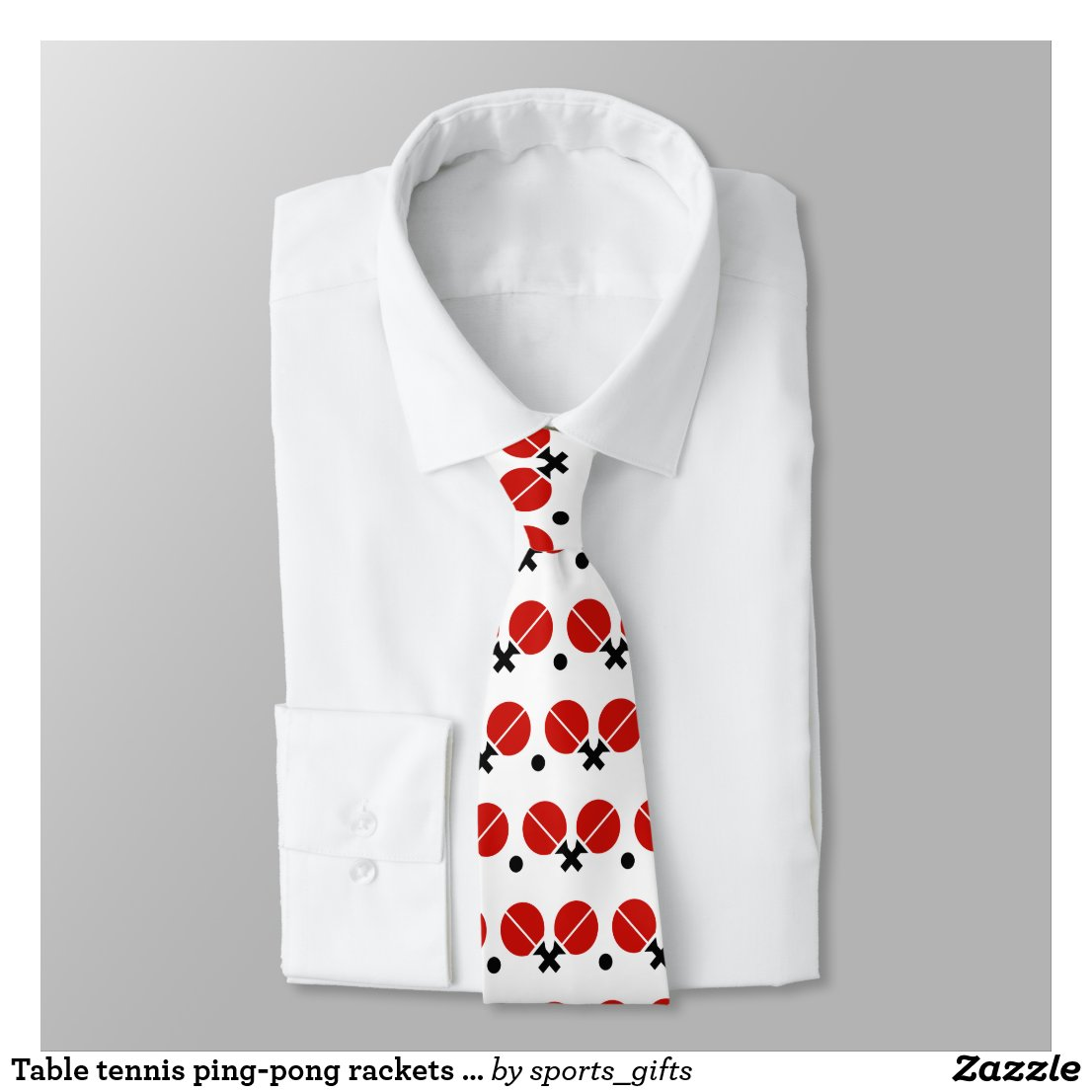 Table tennis ping-pong rackets and ball black, red tie