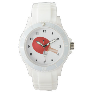 TABLE TENNIS (PING PONG) Sporty White Watch