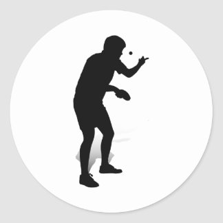 Table Tennis Player 2 Classic Round Sticker
