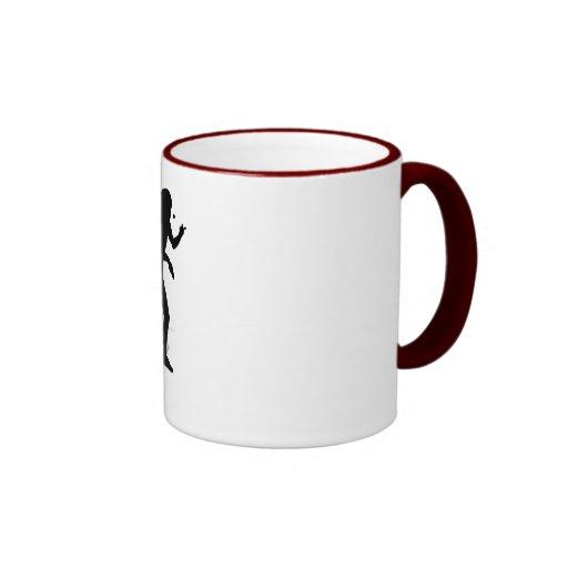 Table Tennis Player 2 Ringer Coffee Mug