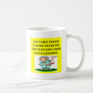 table tennis player joke coffee mug