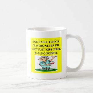 table tennis player joke classic white coffee mug