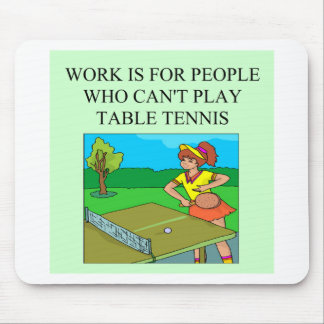 table tennis player mouse pad