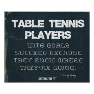 Table Tennis Players with Goals Succeed in Denim Poster