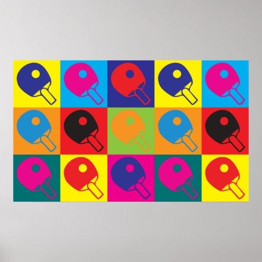 Table Tennis Pop Art Poster