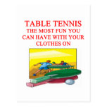 table tennis post card