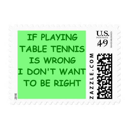table tennis postage stamp