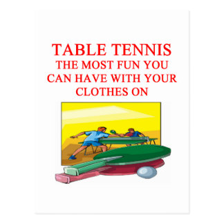table tennis post card
