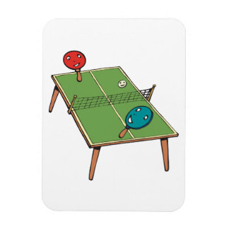 Table Tennis Rectangle Magnet
