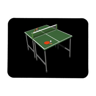 Table Tennis Rectangular Photo Magnet